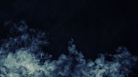 Abstract blue smoke mist fog on a black background. Texture. Design element. royalty free stock photography