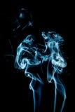 Abstract blue smoke Stock Photo