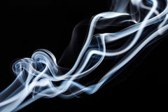 Abstract blue smoke. Stock Photo