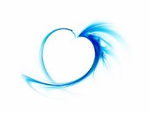 Abstract blue smoky heart. Delicate blue smoky heart on a white background Royalty Free Stock Photography
