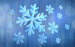 Abstract blue snow background Stock Photo