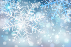 Abstract blue snowflake background Stock Photography
