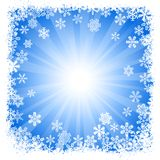 Abstract blue snowflake background Stock Photos