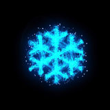 Abstract blue snowflake Stock Photography