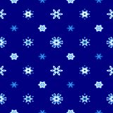 Abstract blue snowflake pattern. Texture background. Stock Images