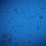 Abstract blue soccer background Stock Photos