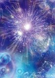 Abstract blue space background Stock Photography