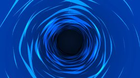 Abstract blue Space tunnel 2d animation, traveling in space looping motion.Water looping in dark background