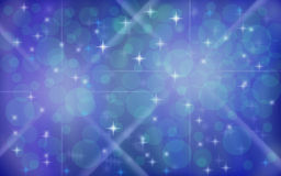 Abstract Blue Sparkle Background Stock Photos