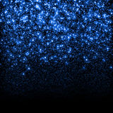 Abstract blue sparkle glitter background. Royalty Free Stock Image