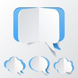 Abstract Blue Speech Bubble Set Cut of Paper Stock Images