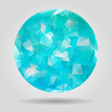 Abstract blue speech bubble with triangular polygons Royalty Free Stock Photos