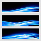 Abstract blue speed light line headers Royalty Free Stock Photography