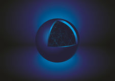 Abstract Blue Sphere 3D. Vector illustration. Royalty Free Stock Image