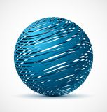 Abstract blue sphere with realistic shadow Royalty Free Stock Images