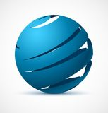 Abstract blue sphere with realistic shadow Stock Image