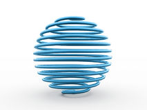 Abstract blue sphere from spiral Royalty Free Stock Images