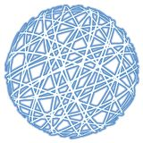 Abstract blue sphere. Abstract blue striped sphere on white background Stock Photo
