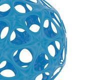 Abstract blue sphere on white. 3d rendering of an abstract sphere on a white background royalty free illustration