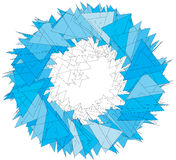 Abstract blue sphere Royalty Free Stock Photo