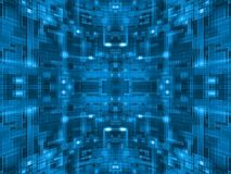 Abstract Blue Spherical Circuit Royalty Free Stock Image