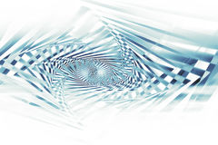 Abstract blue spirals pattern over white. Background, optical illusion, 3d illustration Stock Photos