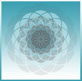 Abstract blue spirograph tile Stock Images