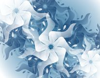 Abstract Blue Splash Flower Background Stock Photos