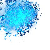 Abstract Blue Splatter Background Banner. Beautiful hand drawn vector sketch. Colorful elements for social media and print decoration Stock Image