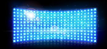 Abstract blue spotlights background Stock Photo