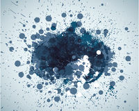 Abstract blue spots background with place for your text Stock Image