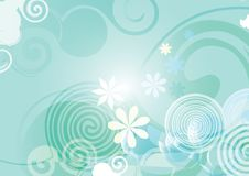 Abstract blue spring background vector flower gradient. Abstract blue spring background vector flower royalty free illustration