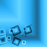 Abstract blue square background Royalty Free Stock Images