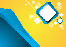 Abstract blue square background Stock Photography