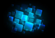 Abstract blue square background Stock Photos