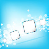 Abstract blue square background. Vector Stock Photo