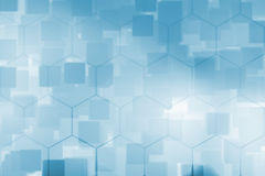 Abstract Blue square bokeh texture background Royalty Free Stock Photography
