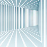 Abstract blue square 3d interior background. With light beams Stock Photo