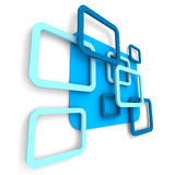 Abstract Blue Square Design Background Stock Image