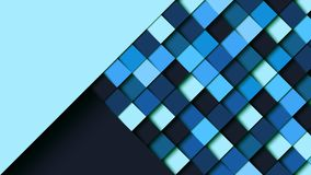 Abstract blue square geometric shape paper cut layer. Background.Paper art style of cover design for business banner template and material design.Vector royalty free illustration