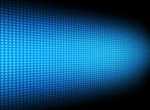Abstract blue square pattern technology futuristic transfer data. Innovation perspective on dark background. Vector illustration royalty free illustration
