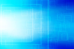 Abstract blue square tech background. Abstract blue square technology background Royalty Free Stock Image