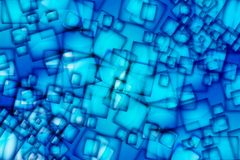 Abstract Blue Squares Stock Photo