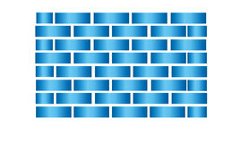 Abstract Blue Squares Background Stock Images
