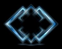 Abstract blue squares logo Stock Photo