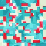 Abstract blue squares seamless pattern Stock Photography