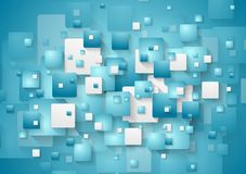 Abstract blue squares vector background Royalty Free Stock Image