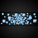 Abstract blue squares vector background Royalty Free Stock Images