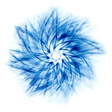 Abstract blue star. On a white background Stock Photo