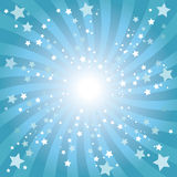 Abstract blue star background. Fancy background design with star Stock Photo